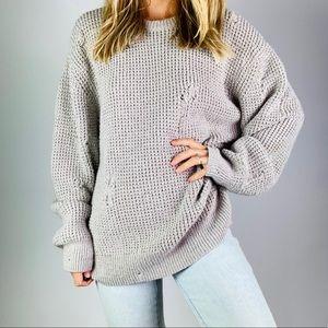 All Saints Sweaters - ALL SAINTS Vektarr Crewneck Wool Blend Sweater XL